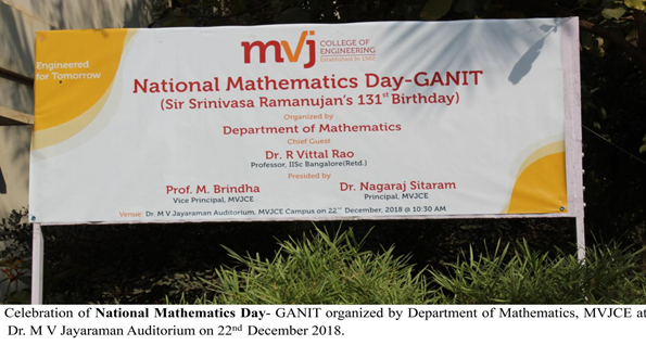 National Mathematics Day Ganit Mvjce